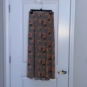 American Eagle Floral Maxi Skirt
